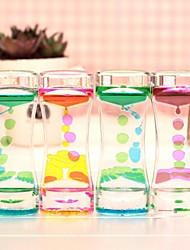 aceite doble del color que gotea el regalo de cumpleaños de reloj de arena casa fuga de aceite dinámica (de color ramdon)