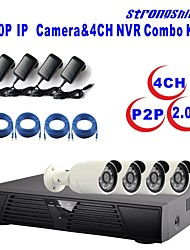 Strongshine®IP Camera with 1080P/Infrared/Waterproof and 4CH  H.264 NVR Combo Kits