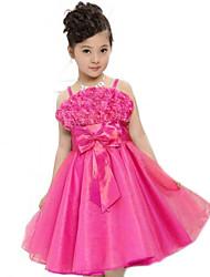 vestido de la princesa del arco de cinta de la muchacha