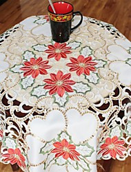 Multi-Purpose  Tablecloth With Size 85X85cm/33X33INCH  More Embroidery And Cutting Flower By Hand