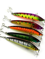 """5pcs pcs Harte Fischköder / kleiner Fisch Verschiedene Farben 8.5g g/5/16 Unze,95mm mm/3.8"""" Zoll,Kunststoff Spinnfischen"""