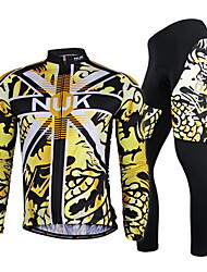 NUCKILY Bike/Cycling Arm Warmers / Jersey + Pants/Jersey+Tights / Clothing Sets/Suits Men's Long SleeveBreathable / Ultraviolet Resistant