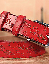 Women Calfskin Waist Belt , Vintage / Casual Alloy