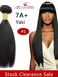 1pc / lot 7a # 1 brazilian vierge yaki 100% poils non transformés couleur naturelle droite armure de cheveux humains, trame de cheveux