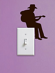 The Guitar wall stickers ,switch stickers,socket decoration