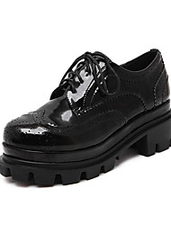 Women's Shoes  Platform Round Toe / Closed Toe Oxfords Casual Black