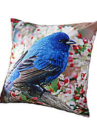 3D Design Print Animal Blue Birds Decorative Throw Pillow Case Cushion Cover for Sofa Home Decor Polyester Soft Material