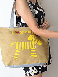 Fashion Women Canvas Print Shopper Shoulder Bag / Tote /Mummy Bag