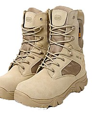Men's Shoes Amir 2016 Hot Sale Outdoor/Work Synthetic Slip Resistant Hard-wearing Combat Boots Black / Beige