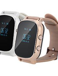 GPS de seguimiento de llamadas telefónicas sos reloj inteligente wristband gsm wifi + libras reloj de alarma del monitor inteligente para