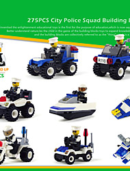 8piece/lot Building Blocks Toys City Protection Truck Models Building Plastic Playmobile Kids Educational Series