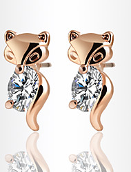 Stud Earrings Crystal AAA Cubic Zirconia Zircon Cubic Zirconia Alloy Gold Silver Jewelry Daily 1 pair