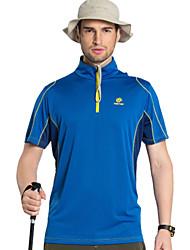2016 New Summer Outdoor Tectop Men's Hiking Camping Polyester T Shirt Short Sleeve Sportwear