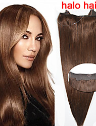 Hot Sale Straight Human Hair 100g/bag Flip in Hair Extension #4 Brown Halo Hair Extensions 16''-20''