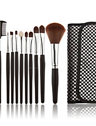 10pcs Professional Cosmetic Makeup Make Up Brush Brushes Set Kit with Bag Case