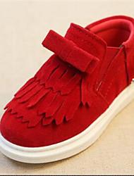 Zapatos de bebé - Planos - Vestido / Casual - Semicuero - Negro / Rojo