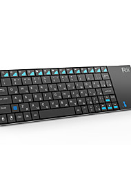 Rii K12 Ultra Slim 2.4GHz Portable Mini Wireless KODI Keyboard with Large Size Touchpad Mouse (Russian)