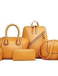 Feminino Couro Ecológico Esporte / Casual / Ao Ar Livre / Compras Tote / Bolsa Carteiro / Mochila / Conjuntos de saco / Mala de Viagem