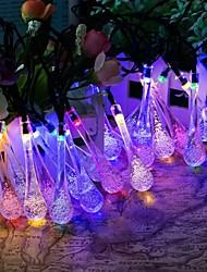 rei ro cristal 40led gota de água luzes da corda da bateria para exterior, jardins, casas, casamento, festa de natal, à prova de água