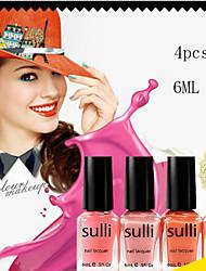 2016 esmalte de uñas regalo mini colección de 4 x 6 ml