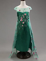 Girl's Green Dress,Floral / Lace Rayon Summer