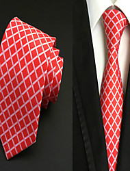 Cravatta - A rete DI Poliestere - Rosso