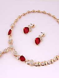 Fashion gold-plated necklace (necklace) (earrings)