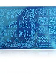 5pcs New Beauty Image Nail Art Stamping Plates Fashion Designs Polish Templates DIY Tools HK10 Random Delivery HK(1-10)