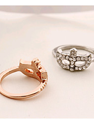 HUALUO®Fashion Jewelry rings bohemian diamond flower mask ring