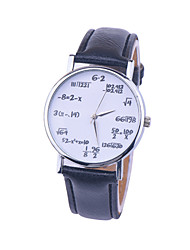 New Fashion Casual Ladies Leather Quartz Mathematical Symbols Women Wrist Watches Cool Watches Unique Watches