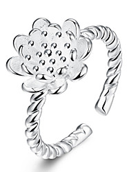 Ringe Party / Alltag Schmuck versilbert Damen Mittelfingerring 1 Stück,Verstellbar Silber