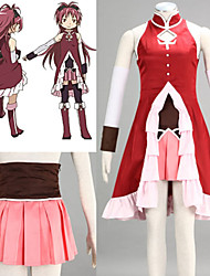 Inspired by Puella Magi Madoka Magica Kyoko Sakura Anime Cosplay Costumes Cosplay Suits PatchworkSkirt Dress Sleeves Stockings Bow