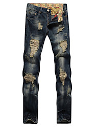 High Quality New design popular style RippedJeans Patches Trousers Spijkerbroek Heren Denim Pants