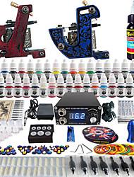 tatouage Solong débutant complet tatouage kit 2 machines pro 40 encres aiguille d'alimentation poignées conseils tkb11