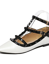 Women's Shoes Rubber Flat Heel Pointed Toe Flats Office & Career Black / White