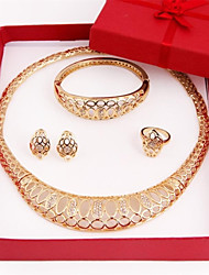 Fashion gold plated Necklace(Necklace, Earring, Bracelet, Ring) Jewelry Sets