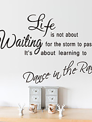 Wall Stickers Wall Decals Style Life Is Short English Words & Quotes PVC Wall Stickers