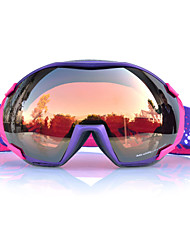 BASTO Purple Frame  Brown Sensor Skiing Snow Goggles