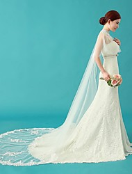 Wedding  Wraps / Shawls / Hoods & Ponchos Capes Sleeveless Lace / Tulle Ivory Wedding / Party/Evening / Casual Bateau Appliques / Crystal