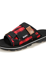 Summer Tide Mens Slippers 2017 British Fashion Man Sandals Canvas Lazy A Pedal Size 39-44 Flip Flops Hot