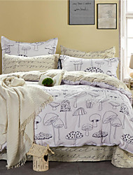 Direct Selling Bedding Set White and Black Painting Bed Linen Plain Printed Bedclothes Cotton Sheets Home 4Pcs Queen