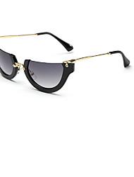 Sunglasses Women's Modern / Fashion Wrap Black / White / Pink / Green Sunglasses Half-Rim