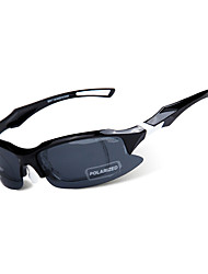 Sunglasses Men's Sports Anti-Fog Oval Black Sports / Cycling Half-Rim