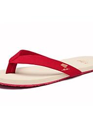 Men's Summer Open Toe / Flip Flops Fabric Outdoor / Casual Flat Heel Multi-color