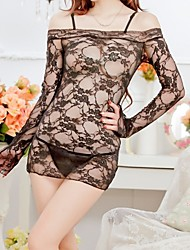 Women's Long Sleeve Rose Lace Sexy Sleepwear