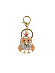 Fashion Cute Rhinestone Set Metal Chicken Key Ring/Handbag Accessory