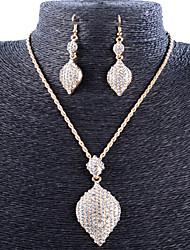 Collar / Pendiente (Baño en Oro / Aleación / Zirconia Cúbica)- Vintage / Fiesta para Mujer