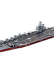 Puzzles 3D - Puzzle Bausteine DIY Spielzeug Flugzeugträger Papier Rot / Grau Model & Building Toy