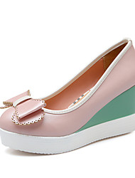 Women's Shoes Wedge Heel Heels / Platform Heels Party & Evening / Dress / Casual Blue / Pink / White