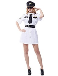 Cosplay Adult Female Performance Clothing Masquerade Sexy Female Pilot Role Play Suits